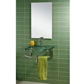 Conjunto Silva 60 cmscon válvula y sifón incluido. - MUEBLE BAÑO SILVAMueble de Baño de 60 cms de ancho con encimera lavabo de cristal transparente de 12 mm de grosor, toallero, sifón y valvula. No incluye el espejo