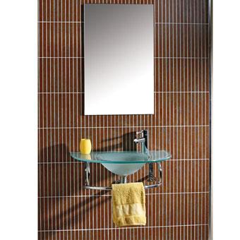 MUEBLE BAÑO TARAVO - MUEBLE BAÑO TARAVOMueble de Baño de 70 cms de ancho con encimera lavabo de cristal al ácido de 12 mm de grosor, toallero, sifón, valvula y espejo a juego.