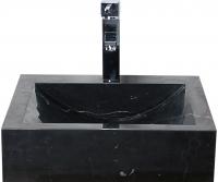 LAVABO PIEDRA 45CM EMERITA NEGRO - LAVABO DE MARMOL 45 cms EMERITA NEGROLavabo de MARMOL Emérita negro 45 cms