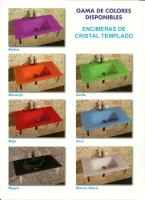 LAVABO ENCIMERA CRISTAL 101X46 AZUL - LAVABO CRISTAL AZULLavabo de Cristal en color Azul de medidas 101x46 cms