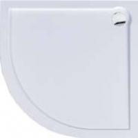 Plato de ducha acrilico angular de 80x80 cm Bluline - Plato de ducha angular acrilico Bluline de 80x80 cm