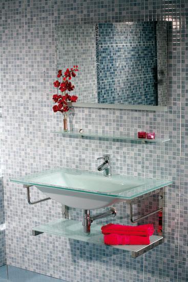 Muebles De Baño Huelva:MUEBLE GARBI – MUEBLE DE BAÑO;con encimera-lavabo de cristal en color