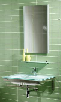 MUEBLE MARE BLANCO - MUEBLE DE BAÑO;con encimera-lavabo de cristal en color blanco de 14 mm de espesor, con soportes cromados, sifón, válvula repisa superior, toallero frontal y espejo decorado a juego.;MEDIDAS:;Espejo:50(ancho)x80(alto) cm;Lavabo:70(ancho)x50(fondo)x14(alto) cm;Grifería no incluida