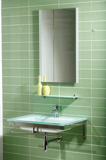 Tienda Lavabos Para Baño:DE BAÑO;con encimera-lavabo de cristal en color blanco de 14 mm de