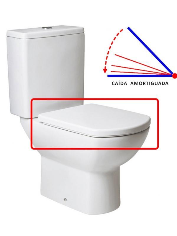 ASIENTO CAIDA AMORTIGUADA INODORO SMART BLANCO - TAPA WC SMART BLANCO CAIDA AMORTIGUADAAsiento y tapa para inodoro modelo Smart con caida amortiguada en acabado blanco.. Repuesto original de la marca