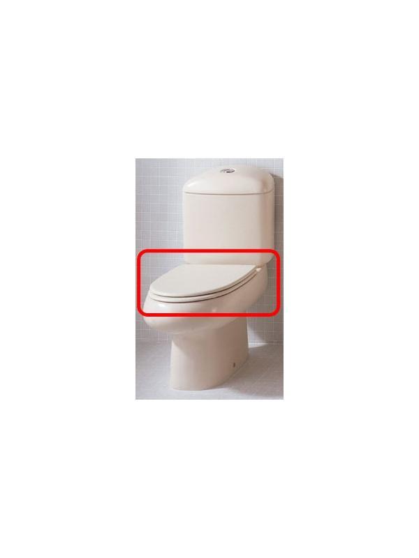ASIENTO INODORO BACARA pergamon DM LACADO - TAPA WC BACARA pergamon. Repuesto COMPATIBLE. Gala ha dejado de fabricar este repuesto.