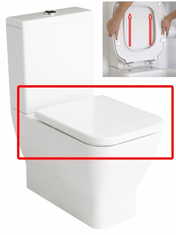 ASIENTO EXTRAIBLE INODORO EMMA SQUARE BLANCO - TAPA WC EMMA SQUARE BLANCO EXTRAIBLEAsiento para inodoro modelo Emma Square color blanco extraible. Ref. E51642. Repuesto original de la marca