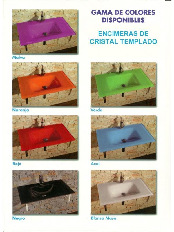 LAVABO ENCIMERA CRISTAL 101X46 VERDE - LAVABO CRISTAL VERDELavabo de Cristal en color VERDE de medidas 101x46 cms