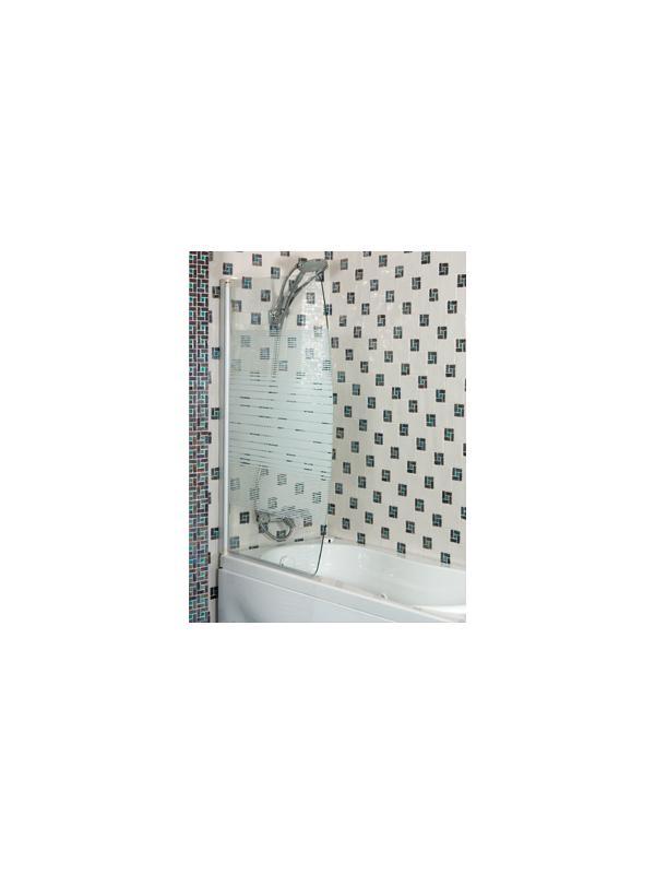 MAMPARA ARGOS - MAMPARA DE BAÑERA DE ANCHO En cristal de 6 mm serigrafiado de seguridad, con perfil blanco.;Disponible en varios acabados.;MEDIDAS:140x85 cm