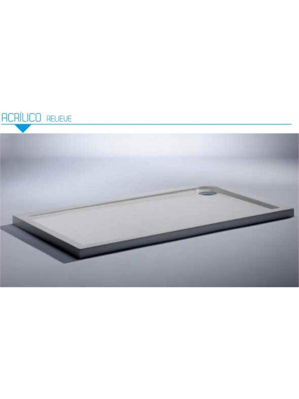 Plato de ducha acrilico rectangular Bluline. Ancho de 80 cm. - Plato de ducha rectangular acrilico Bluline de 80 cm de ancho.
