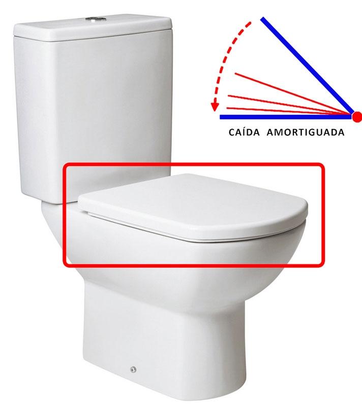 Tapa wc smart blanco caida amortiguada gala arance la - Tapa wc amortiguada ...