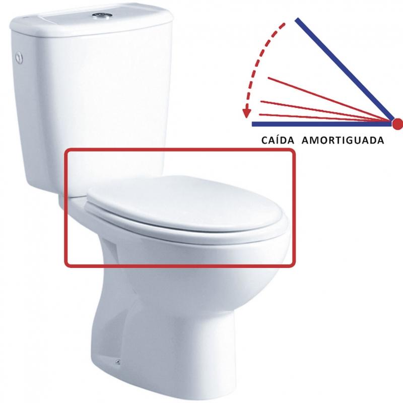Tapa wc elia blanco caida amortiguada gala arance la - Tapa wc amortiguada ...