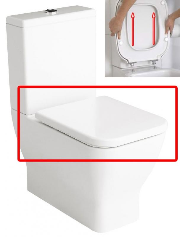 Tapa wc emma square original gala arance la ballena for Repuestos para inodoros