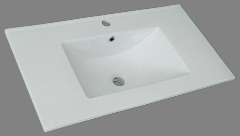 Lavabo de porcelana blanco de medidas 101x46 for Lavabos de porcelana