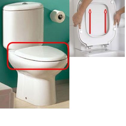 Tapa wc loa blanco extraible original gala arance la for Inodoro cuadrado